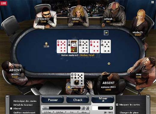 eurosport - table de jeu de poker